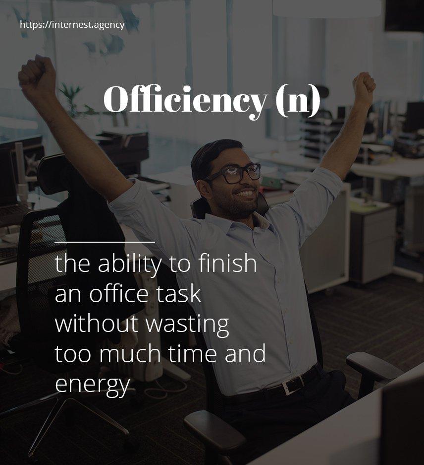 Officiency Productivity Time Managemet Multi Task Internest Agency